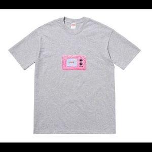 Supreme TV Tee Heather Grey Graphic T Shirt SS18